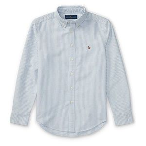 Ralph Lauren blue striped button down shirt 12